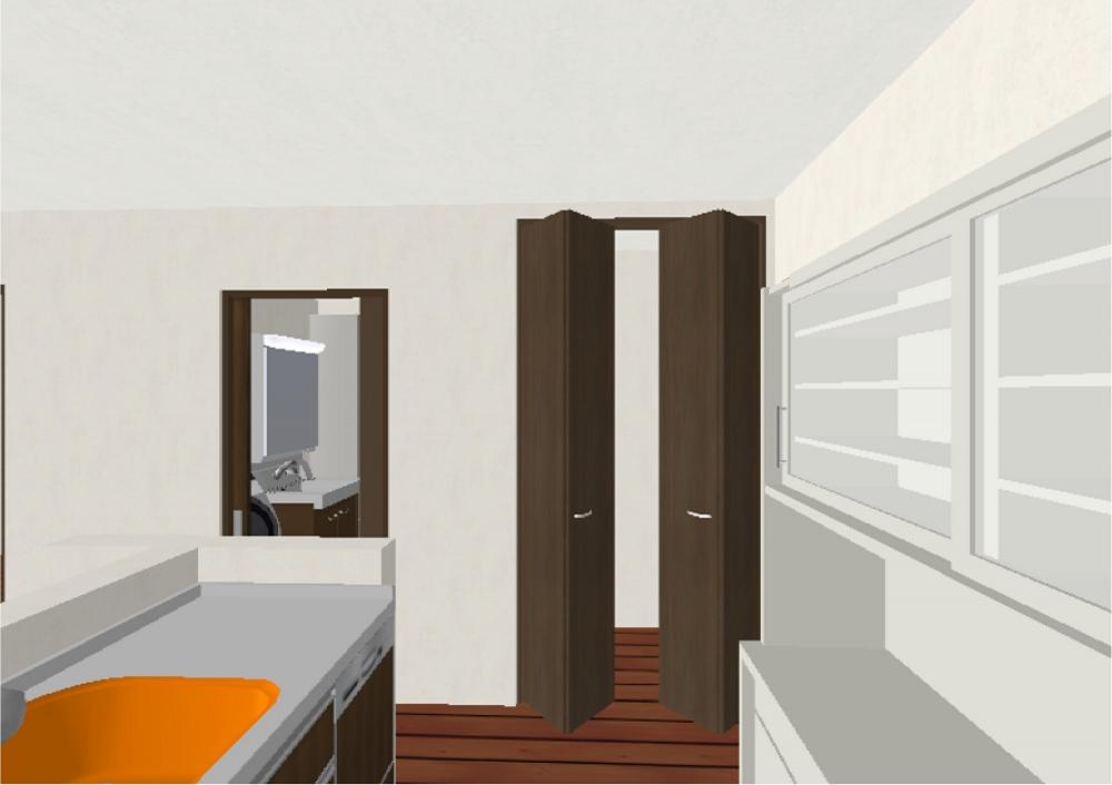 キッチン・食品庫(完成予想図) -  -  -