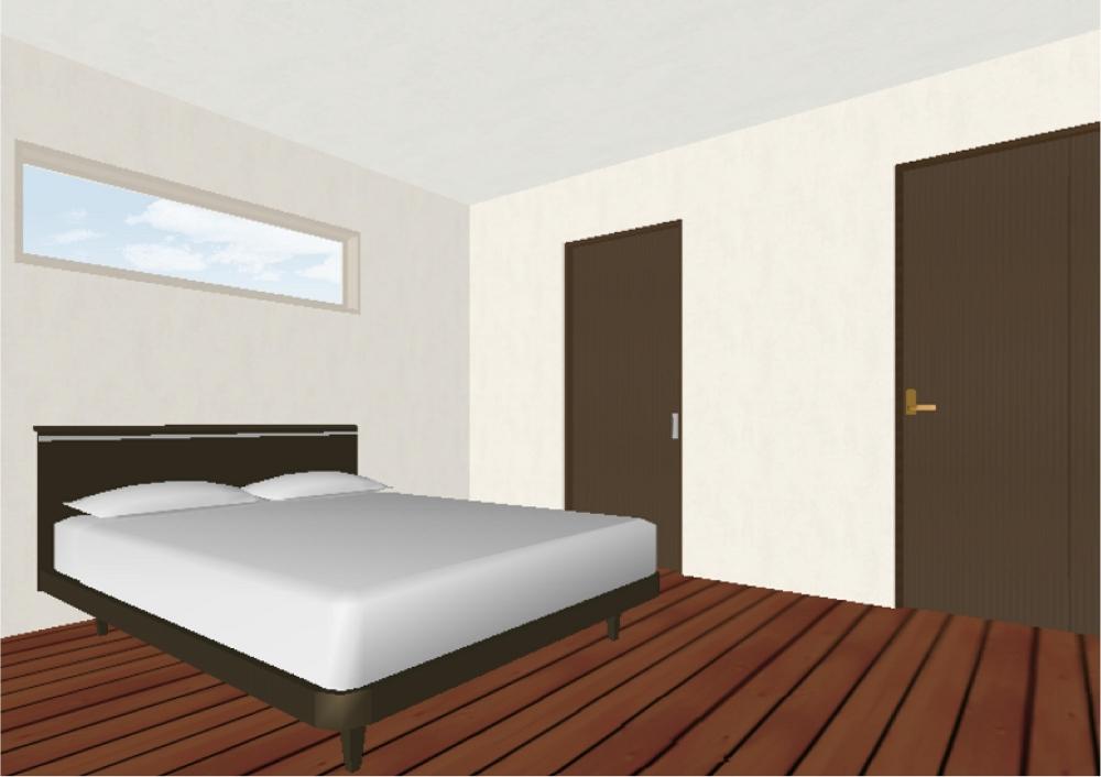 主寝室①(完成予想図) -  -  -