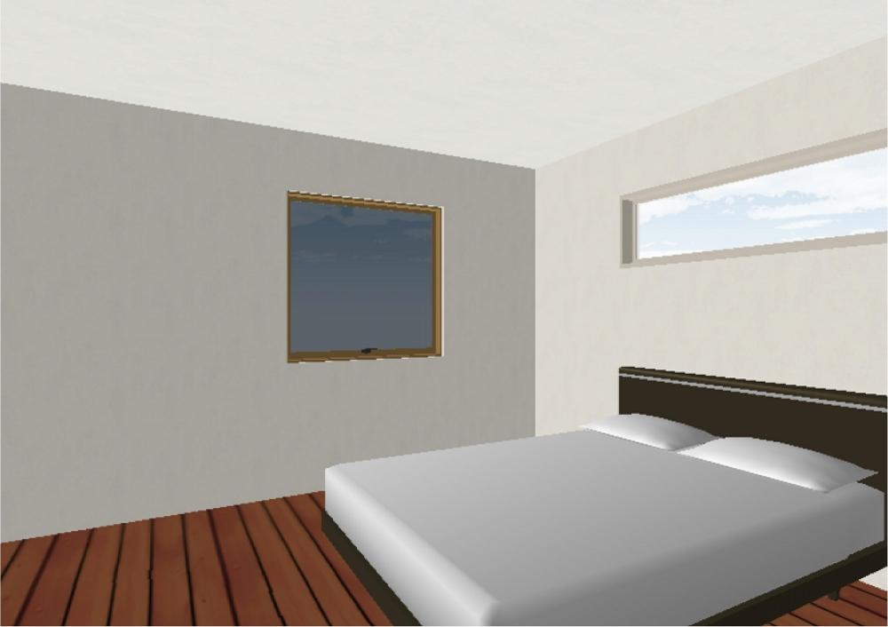 主寝室②(完成予想図) -  -  -