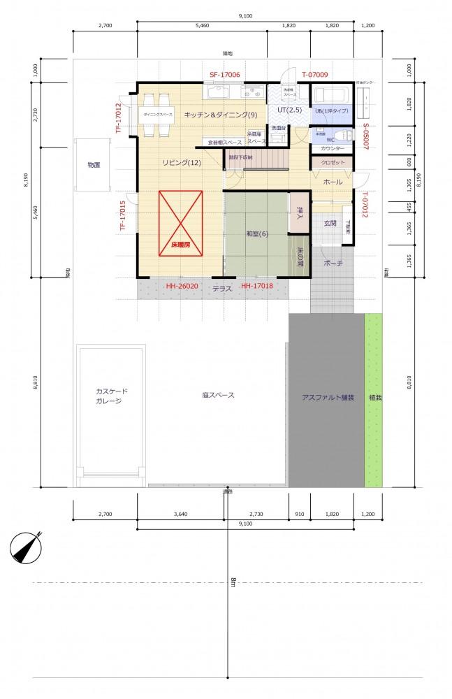 敷地配置図 -  -  -