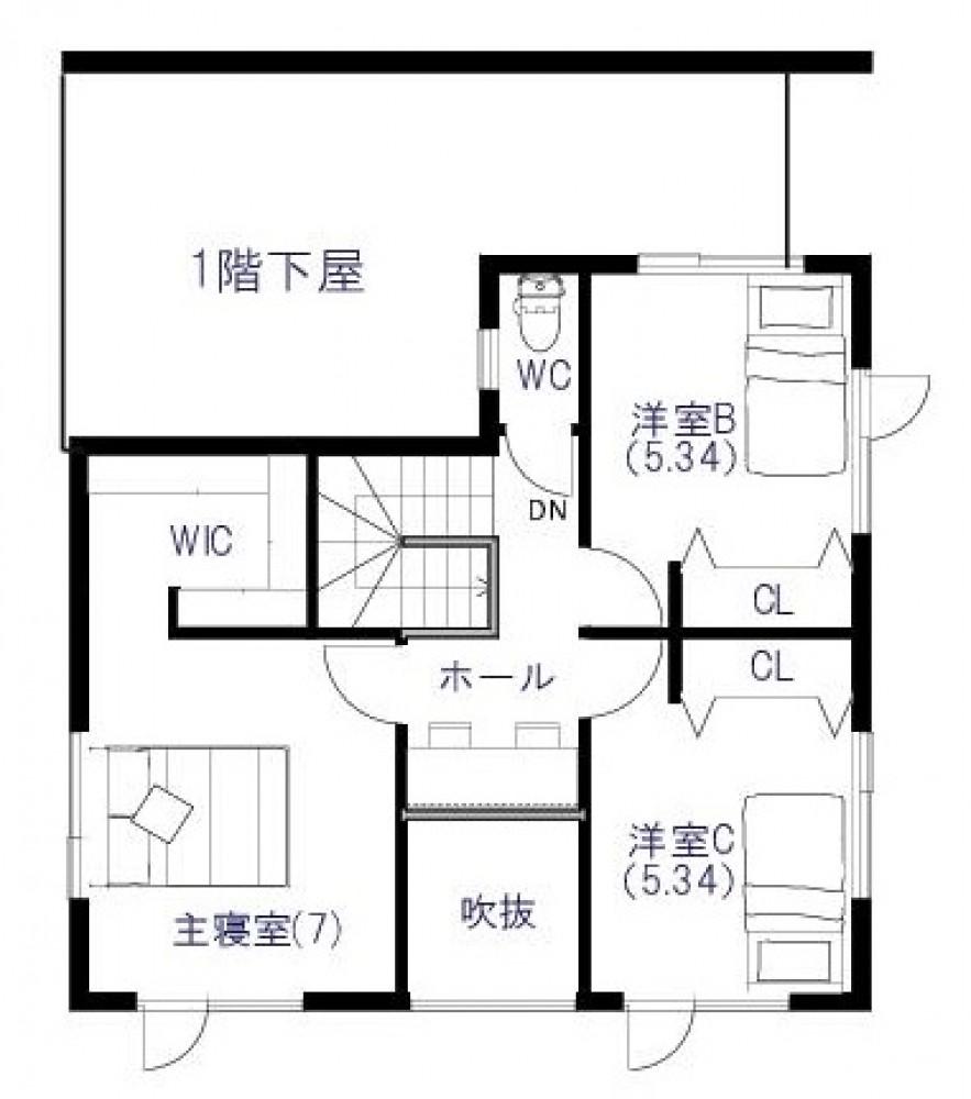 2階平面図 -  -  -