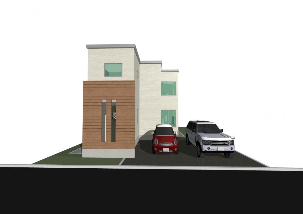 モデルハウスB棟完成予想図(建築予定) -  -  -