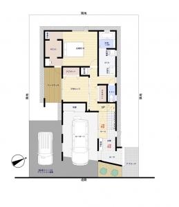 1階床面積:76.77㎡ 23.22坪 -