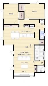 2階床面積:78.19㎡ 23.65坪 -