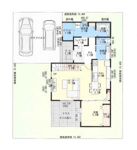 敷地配置図&1階平面図 -