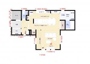 1階平面図 -