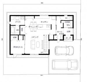 【参考プラン】1階平面図 -